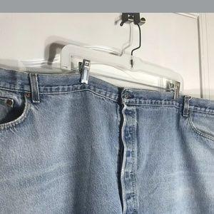 58 waist Levi 501 denim blue jeans.  Women sz 38